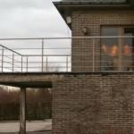 gepoederlakte balustrade