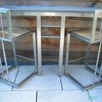 inox tafel en stoelen